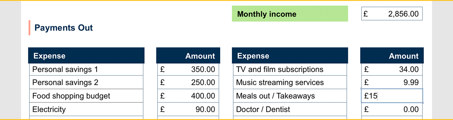 Mortgage Budgeting - Expenses